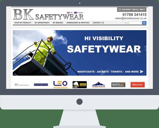 Website Design Romford Essex BK Safetywear