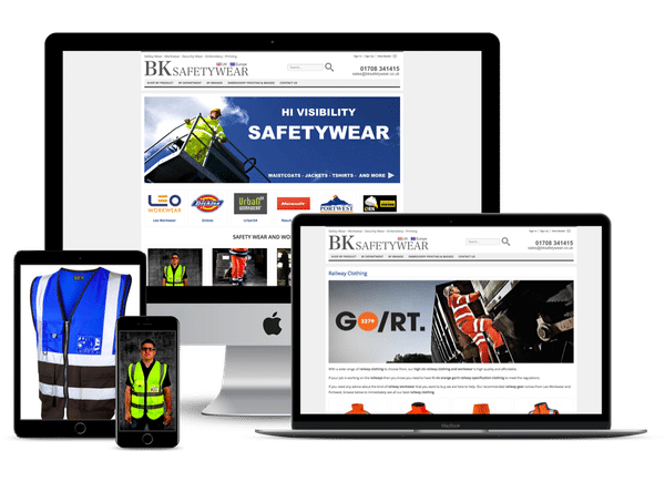 Website Design for BK Safetywear in Romford Essex