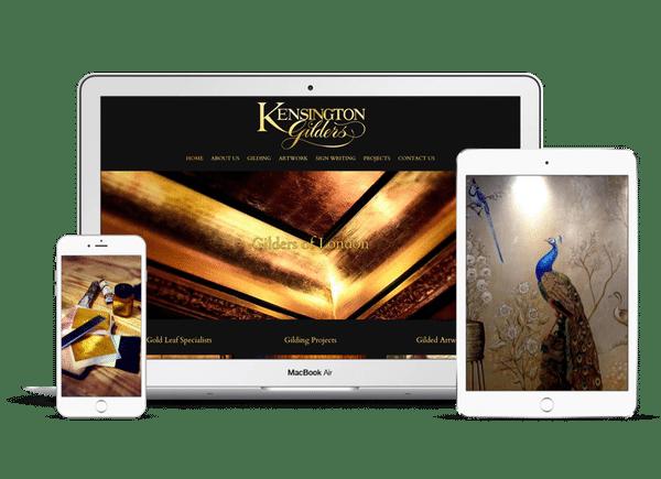 Website Design for Kensington Gilders in London